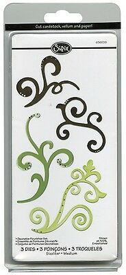 Sizzix 3 Pack Dies Set~Decorative Flourishes Set (Special Price Was $14)