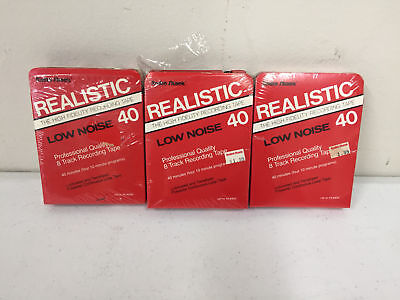 3 Radio Shack Realistic Low Noise 40 High Fidelity Recording 8 Track Tapes Tape