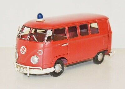 VW Bus Fire Brigade Model Car Nostalgia Tin Model, Metal 32 Cm ( Ko)