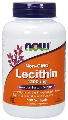 100g, 9,97 EUR/100g NOW Foods Lecithin, 1200mg Non-GMO - 100 softgels