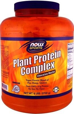 2722g, 28,19 EUR/1Kg NOW Foods Plant Protein Complex, Chocolate Mocha - 2722g