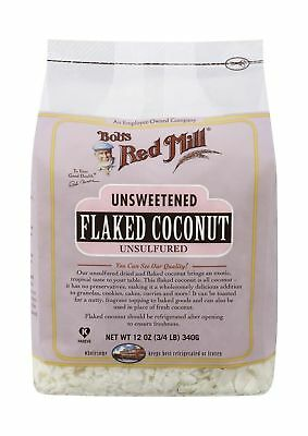 Bob's Red Mill Unsweetened Flaked Coconut, 12 Ounce (3/4 LB) 340g