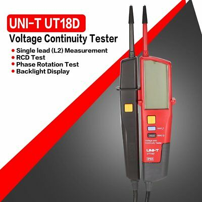 UNI-T UT18D Voltage Continuity Electrical RCD LCD Two Pole Tester DetectorYF