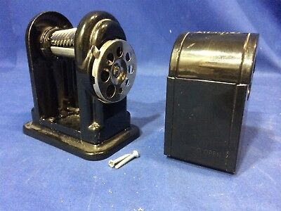 Black BOSTON RANGER 55 Desk or Wall Mount Pencil Sharpener FREE SHIPPING