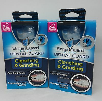 2 - Smart Guard Elite Dental Guard Total of 4 Guards + 2 Cleaning Cases