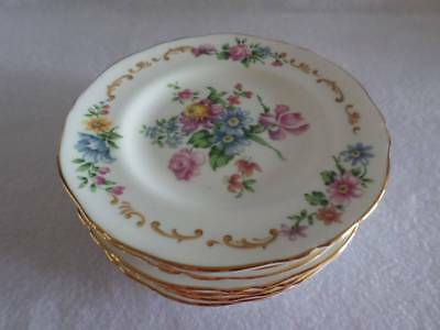 """CROWN STAFFORDSHIRE PATTERN F16166 VINTAGE BREAD PLATE 6""""w EXCELLENT MULTIPLES"""