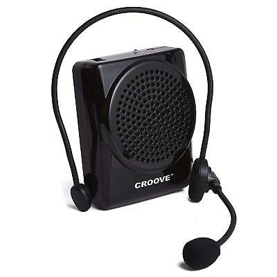 Croove Rechargeable Voice Amplifier, with Waist/Neck Band & Belt Clip, 20 Watts