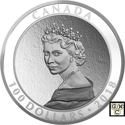 2018 'Portrait of a Princess' Proof $100 Silver Coin 10oz .9999 Fine (18561)(NT)