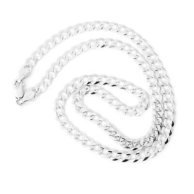 """Beauniq Men's Solid 14k White Gold Comfort Cuban Curb 5.7mm Chain Necklace, 22"""""""