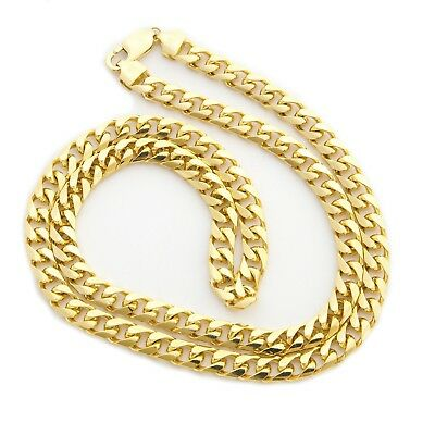 """Beauniq  Solid 14k Yellow Gold 6.5mm Heavy Miami Cuban Link Chain Necklace 24"""""""