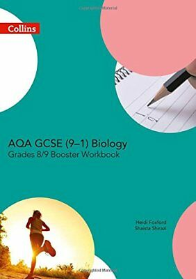 AQA GCSE Biology 9-1 Grade 8/9 Booster Workbook by Collins UK New Paperback Book