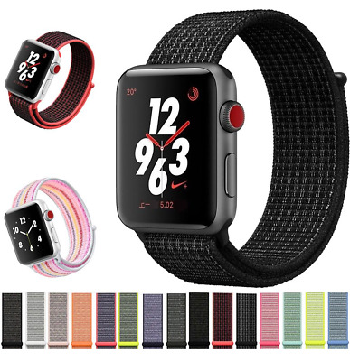Nylon Loop Strap Replacement Sport Band 38mm 42mm For Nike+ Apple Watch 1 2 3