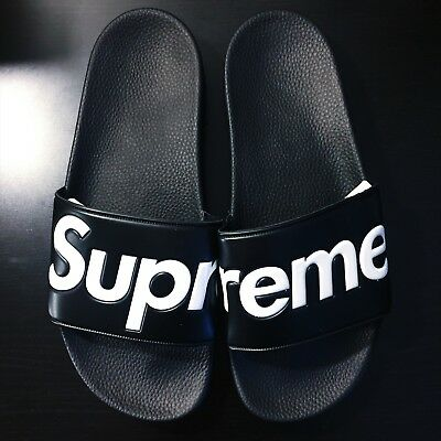 ece0cc7731eff9 100% AUTHENTIC SUPREME SLIDES SANDALS SLIPPERS FLIP FLOPS RED OR ...