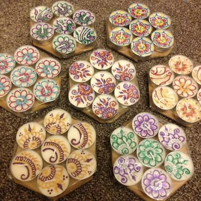 6 Tea Light Candles Diwali Christmas Gift Mehndi Henna Favours 6 For £4.50