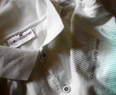 POLO T-SHIRT vintage 80's CERRUTI 1881  tg.M Made in Italy  RARE