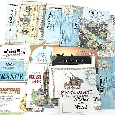 National Geographic Maps Lot of 19 1955 - 1985 World United States Political