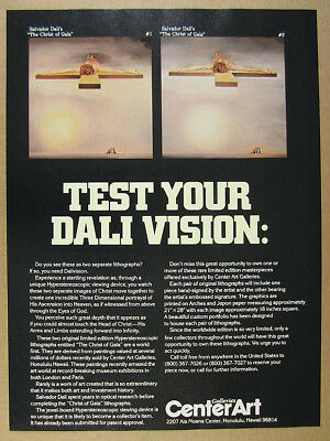 1981 Salvador Dali Christ of Gala 1 2 stereoscopic lithographs vintage print Ad