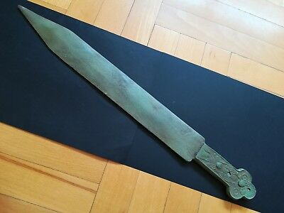 BRONZE AGE SWORD ANCIENT CELTIC BRONZE WEAPON 900-700 BC. 50 cm