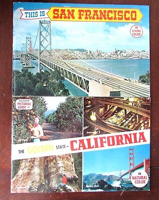 2 vtg Pictorial guides San Francisco & The Golden State California in color