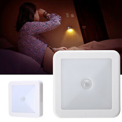 LED Wireless PIR Motion Sensor Night Light Cabinet Stair Lamp Battery Powered