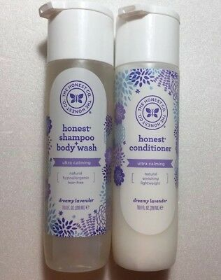 The Honest Company DREAMY LAVENDER Shampoo + Body Wash and Conditioner - SET