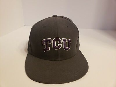 TCU Horned Frogs Cap NCAA New Era 59FIFTY Adult Hat Flat Brim Size 7 1  917e46a82a4
