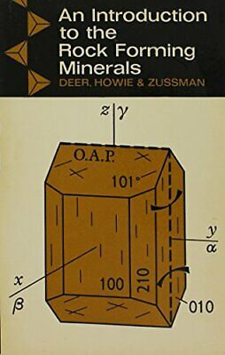 An Introduction to the Rock Forming Minerals by Zussman, J Paperback Book The