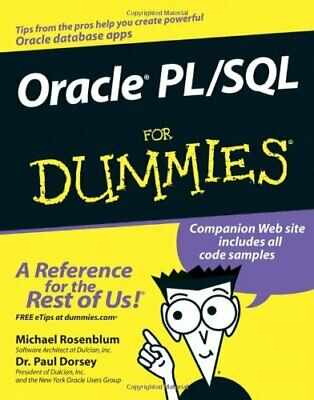 Oracle PL/SQL for Dummies by Rosenblum, Michael Paperback Book The Cheap Fast
