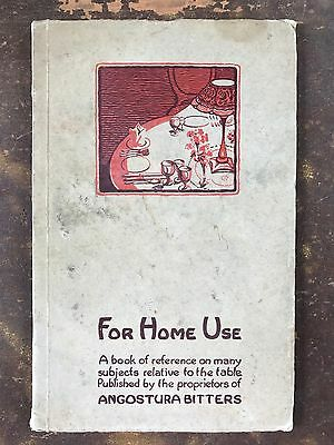1935 ANGOSTURA BITTERS For Home Use A Book of Reference for the Table Dining