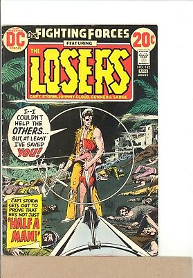 1973 DC Comics OUR FIGHTING FORCES #142 VG the Losers, Capt Storm, Joe Kubert