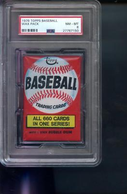 1976 Topps Baseball Card Unopened Wax Pack All 660 One Series NM-MT PSA 8 Graded