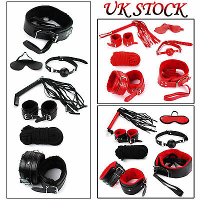 Sex Toy Set Adult Kit Handcuffs Legcuffs Ball Ropes Blindfold Valentine's Gift