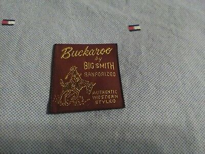 VTG NOS BUCKAROO by BIG SMITH Clothing Tag Label LOGO Western style Jeans jacket