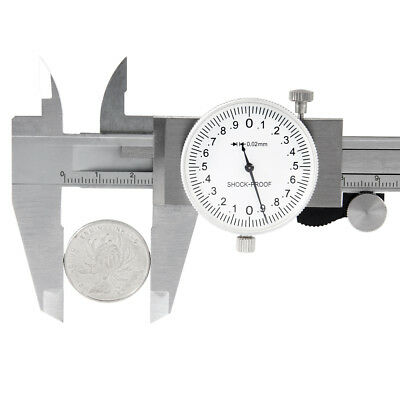 """6"""" Dial Caliper Stainless Steel Shockproof .001"""" of One Inch. With Carry Case"""