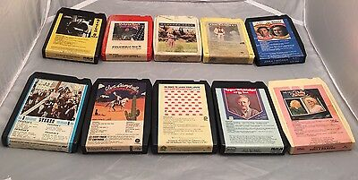 Vintage-10 Lot of 8Track Cassette Tapes,Assorted Tested.Dolly,Love,Johnny Cash
