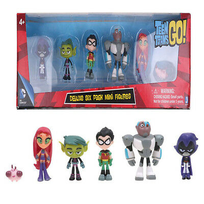 """6 PACK 2"""" Teen Titans Go Teen Titan Action Figure Kid Child Gift Toys New IN BOX"""