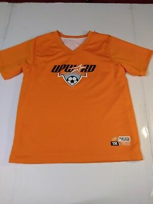 Upward Reversible Orange White Soccer Jersey Play With Purpose Size YM