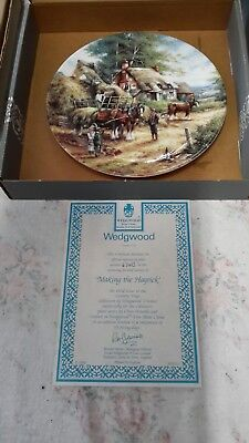 """Wedgewood collector plates """"country days"""" series."""
