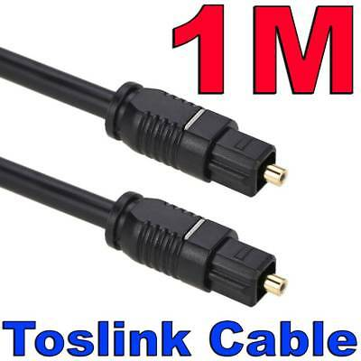1M Premium Gold Toslink Optical Fibre Digital Audio Cable Lead Sound Cord S/PDIF