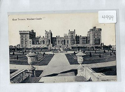 A4989cgt UK East Terrace Windsor Castle postcard