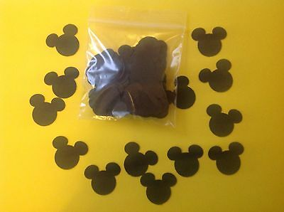 Pack Of 100 Black Mickey Mouse Confetti  Disney Wedding Buy 2 Packs Get 1 Free