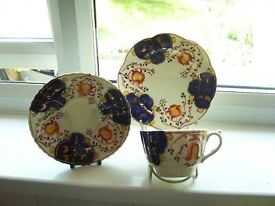 Gaudy Welsh Tulip Design Cup, Saucer And Plate