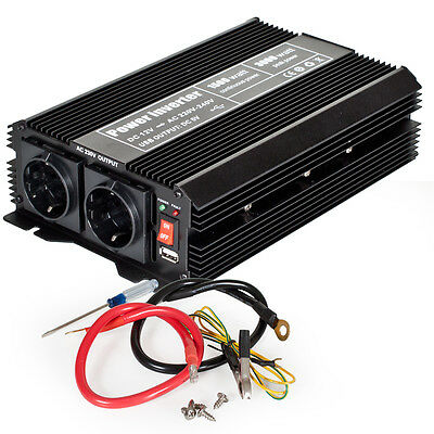 Convertisseur de tension 12 V - 230 V Onduleur 1500W 3000 W Watt