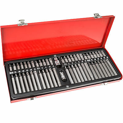 Coffret de 54 embouts vissage 12 pans 6 pans spline courts longs XZN hex torx