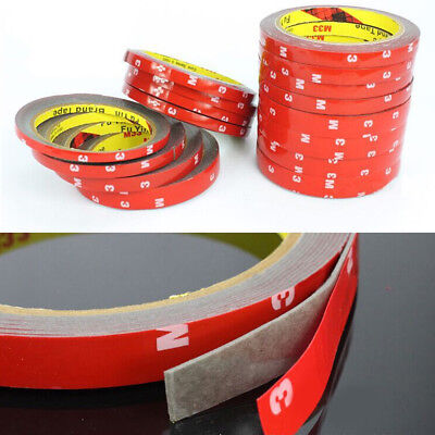 1 Roll Waterproof Acrylic Car Strong Double Sided Attachment Adhesive Tape 3M