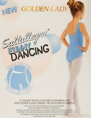 "Collant bimba senza cuciture ""FUNNY DANCING"" Golden Lady - ideali per danza"