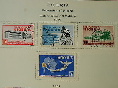 1753  Nigeria 1960-65 Collection Mounted Mint/used   (Lot A) Cat $20