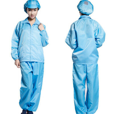 Protective Suit Zip Front for Spray Paint Mechanic Work Antistatic 4 Colors
