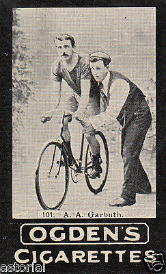 RENN - RAD * BICYCLE * orig. Sammelbild * ca. 1900 * TOP - RAR