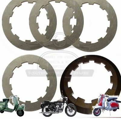 Lambretta Gp Li Sx Tv 4 Clutch Steel Plates With Top Plate @au
